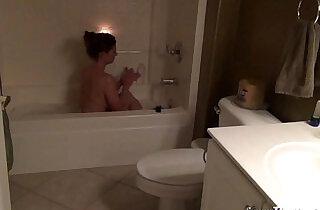 Mom in bath tub masturbates to son.  xxx porn