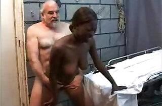 Old Perverted Grandpa Fucks Black Teen Girl.  xxx porn