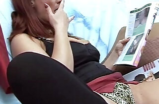 Hot mom caught by her son whatching porn magazine.  xxx porn
