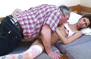 Old man and sleeping beauty.  xxx porn