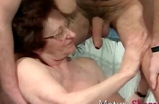 Real old grannies with some younger.  xxx porn