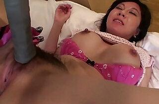 Uncensored Japanese milf affair with tennis racket Subtitled.  xxx porn