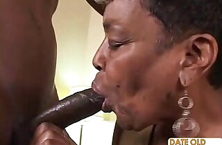 Black Granny Gets Some Young Cock.  xxx porn