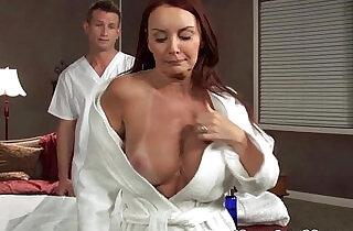 MILF Janet Mason drilled on massage table.  MILF porno   xxx porn