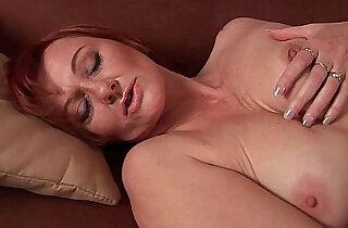 Sleazy grandma in nylons fist fucks hairy cunt.  xxx porn