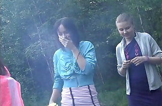 Russian students staged an orgy in the woods.  xxx porn