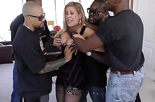 Cherie deville gets gangbanged by big black monster cocks.  xxx porn