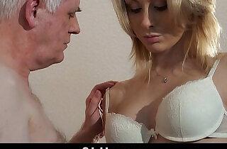 Old employer fucks blonde at an interview.  xxx porn