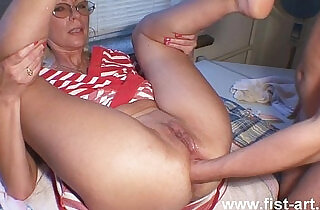 Fisting in red.  xxx porn