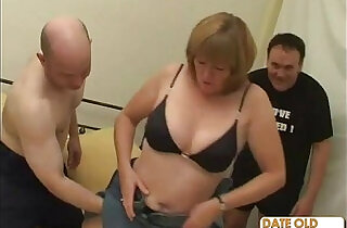 Old grandma pounded and fucked by two old guys.  xxx porn