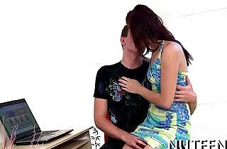 After giving a kiss.  xxx porn