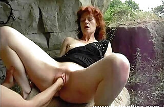 Amateur wife is fist fucked outdoors.  xxx porn