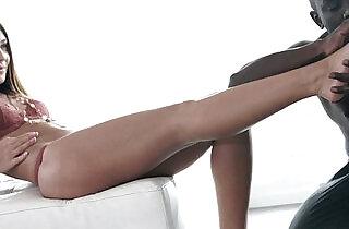 Alexis Brill interracial foot worship.  xxx porn