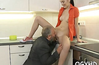 Cute young gal drilled by old dude.  young-old   xxx porn