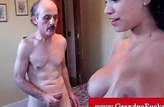Jamie valentine orally pleasured by old man.  xxx porn