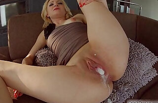All Internal Threesome with a double creampie for blonde newbie.  xxx porn