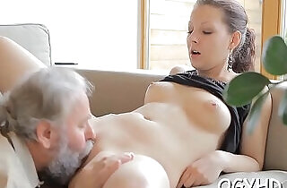 Juvenile nympho licks old strapon.  xxx porn