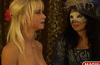 German star strips for private mascarade swingers club.  xxx porn