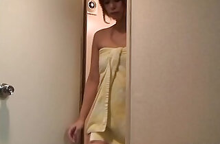 Japanese Teen Takes a Shower and Switches to Nightie.  xxx porn