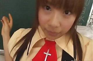 Innocent schoolgirl from Japan tastes her teachers rod.  xxx porn