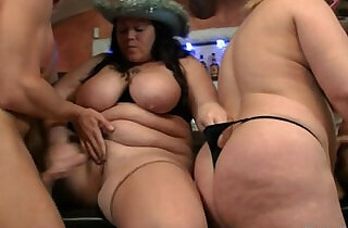 Three plumper bitches in group sex orgy.  xxx porn