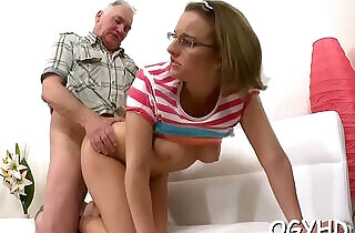 Old dude eats young cookie.  xxx porn