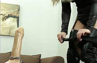 Femdom Strap on training.  xxx porn