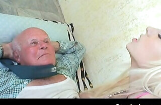 lucky day for grandpa.  xxx porn