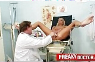 Hot legs blonde Eliss Fire clinic fetish with daddy doctor.  leggy  ,  old-young  ,  pussycats  ,  rope sex  ,  sexy dad   xxx porn