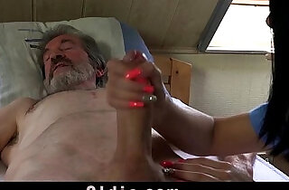 Sexual young care for a poor old man.  xxx porn