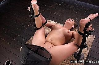 Very hot busty amateur blonde toyed in bondage.  xxx porn