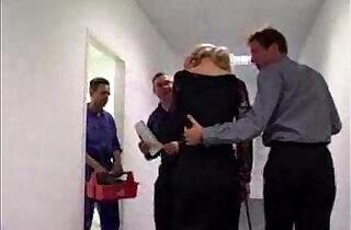 German Secretary forced to blow boss.  xxx porn