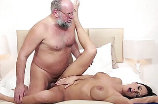 Busty Samantha Rebeka banged by old dude.  xxx porn