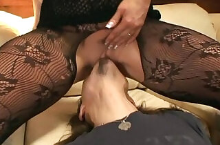 Pantyhose face sitting and oral sex on a couch.  xxx porn