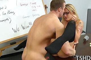 Trainer drills his student.  xxx porn