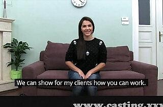 Casting Hot Italian Babe in interview.  xxx porn