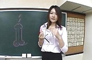 Subtitled Japanese Akira Watase classroom blowjob lecture.  xxx porn