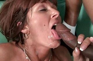 Milfs Desi Foxx and Dorothy unload a hard long mamba cock on their face.  xxx porn