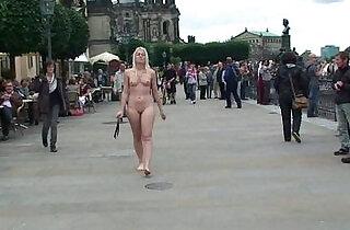 Hot blonde sandra naked on public streets.  xxx porn