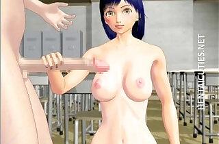 Sexy 3D hentai gets jizzed by a giant dick.  xxx porn