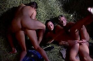 Sheila Scott and Vanda Facialed After a Fourway.  xxx porn