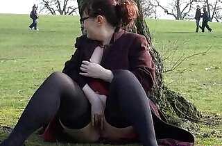 Public masturbation pussy flashing of Nimue.  xxx porn