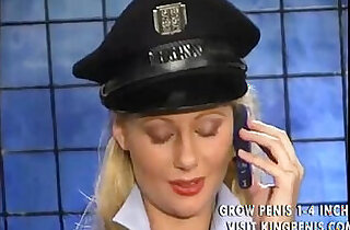 Police girl inserts the baton in her tight cunt.  xxx porn