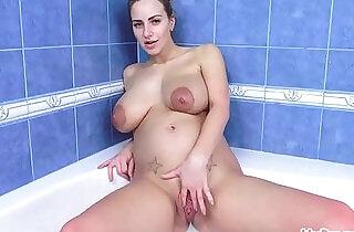 Nathaly Cherie Masturbate in the Bubble Bath!.  xxx porn