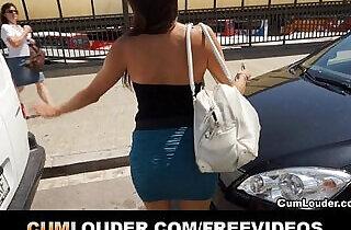 Spanish brunette babe fucked hard in a Van.  xxx porn