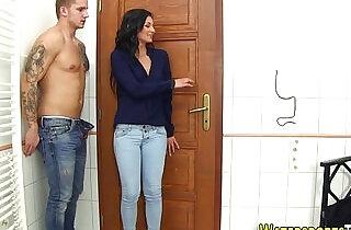 Urinating slut jizz faced.  xxx porn