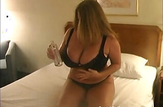 Chubby Blonde Playing around with Boobs.  xxx porn