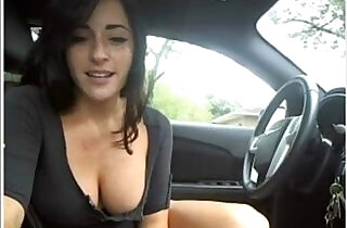 Sexy young girl to masturbate and flash in her car on cam.  web cams  ,  young-old   xxx porn