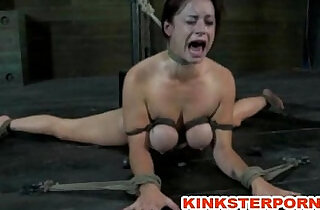 BDSM Suspension, bonded and wide spread legs, ass and cunt tortured.  xxx porn