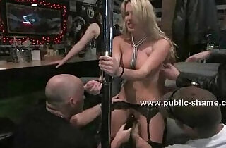Blonde whore shows up in a bar.  xxx porn